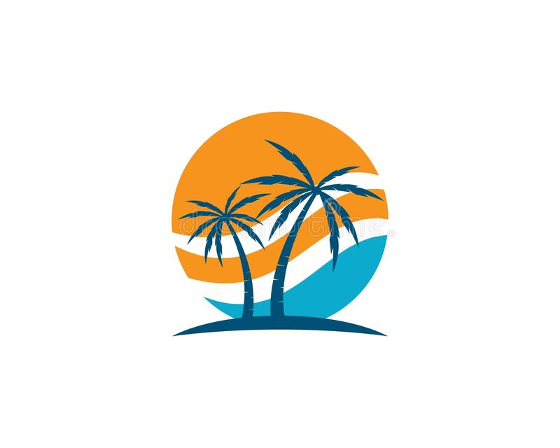 Palm tree logo template stock illustration