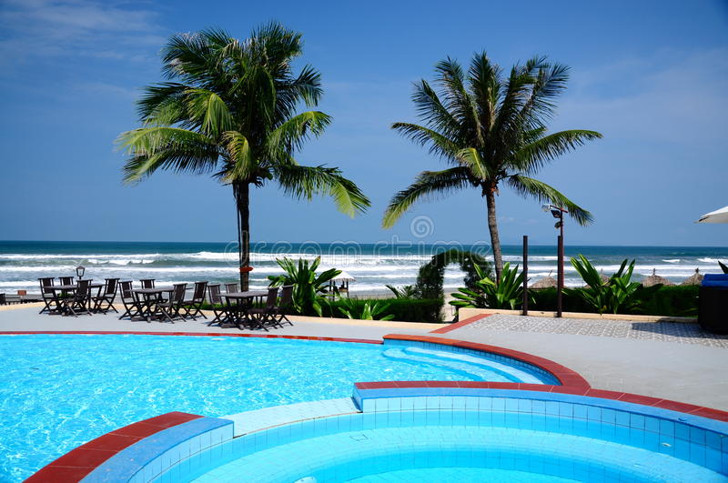Download Palm Tree and Pool stock photo. Image of clear, sand - 27092978