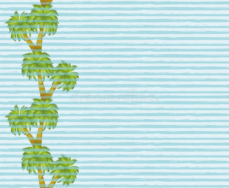 Palm tree seamless banner. Vector royalty free illustration