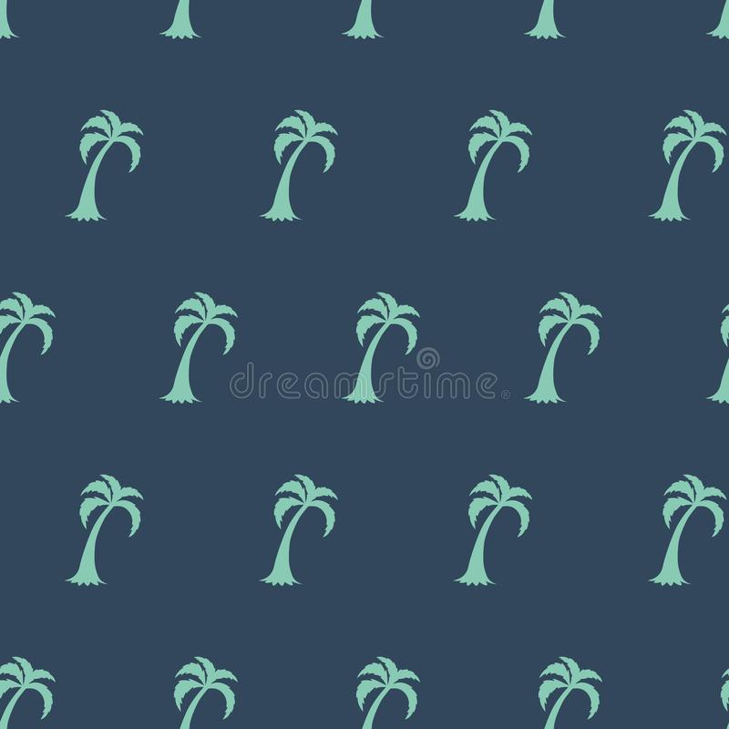 Palm tree seamless pattern. Summer tropical classical embroidery green grey background cloth t-shiert print stock illustration