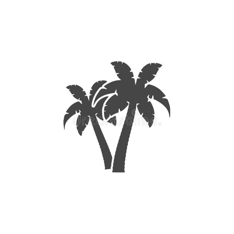 Palm Tree Silhouette icon - Illustration vector illustration