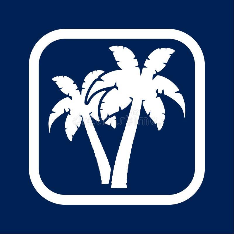 Palm Tree Silhouette icon - Illustration royalty free illustration