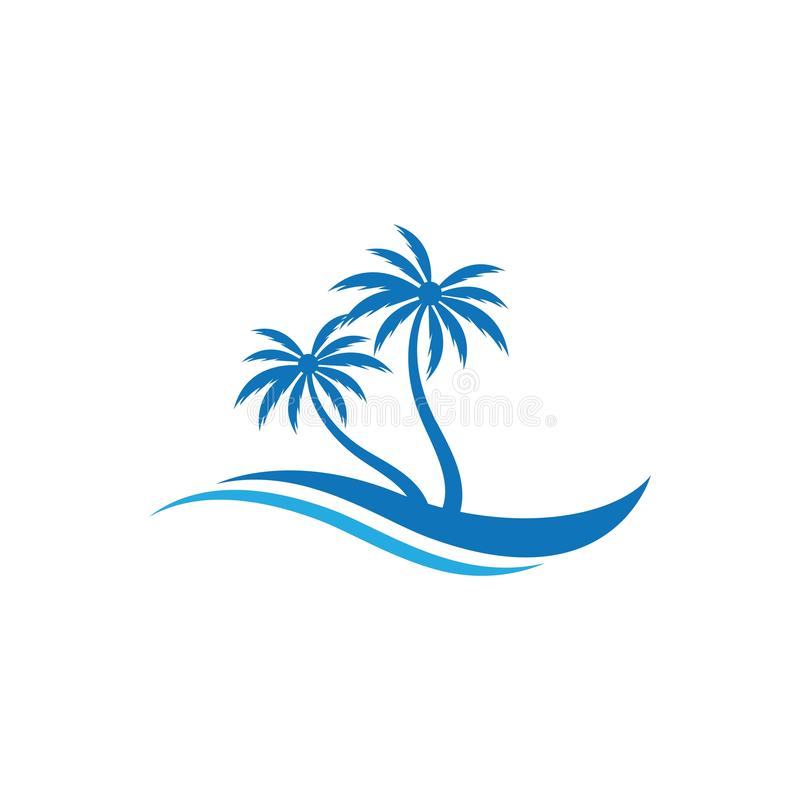 Palm tree summer logo template royalty free illustration