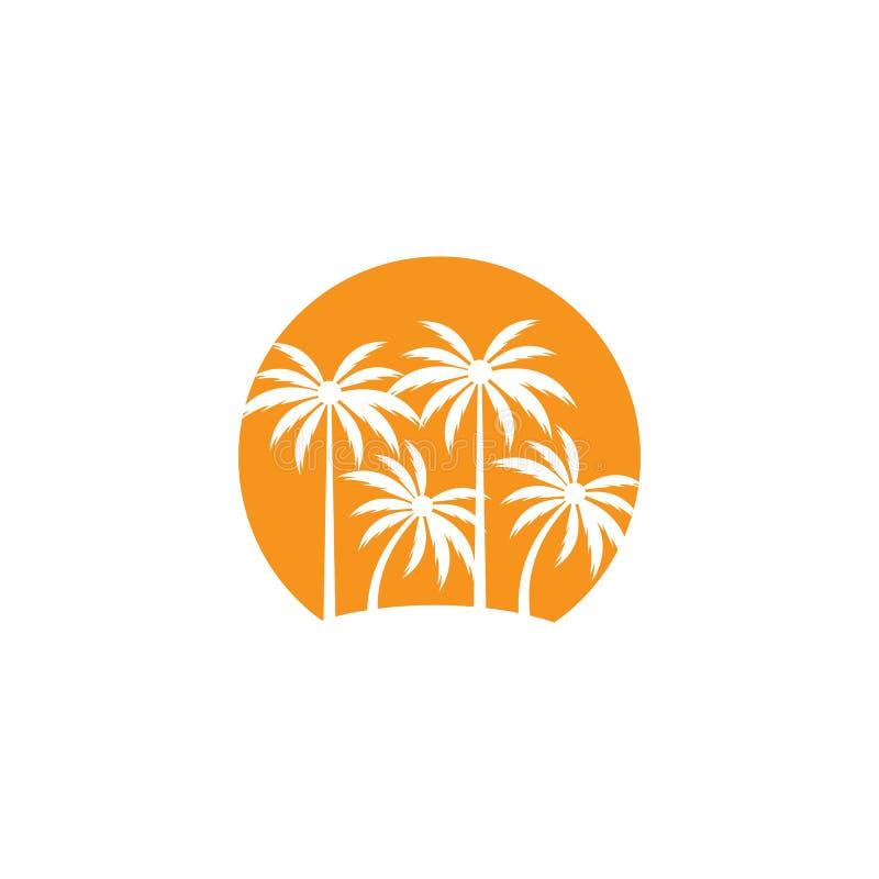 Palm tree summer logo template royalty free illustration
