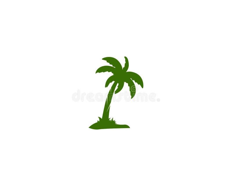 Palm tree summer logo template vector illustration nature stock illustration