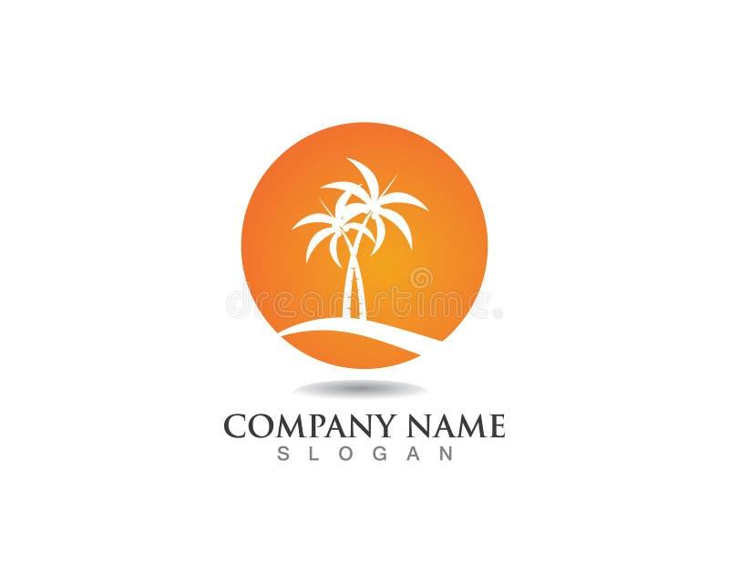 Palm tree summer logo template vector illustration royalty free illustration