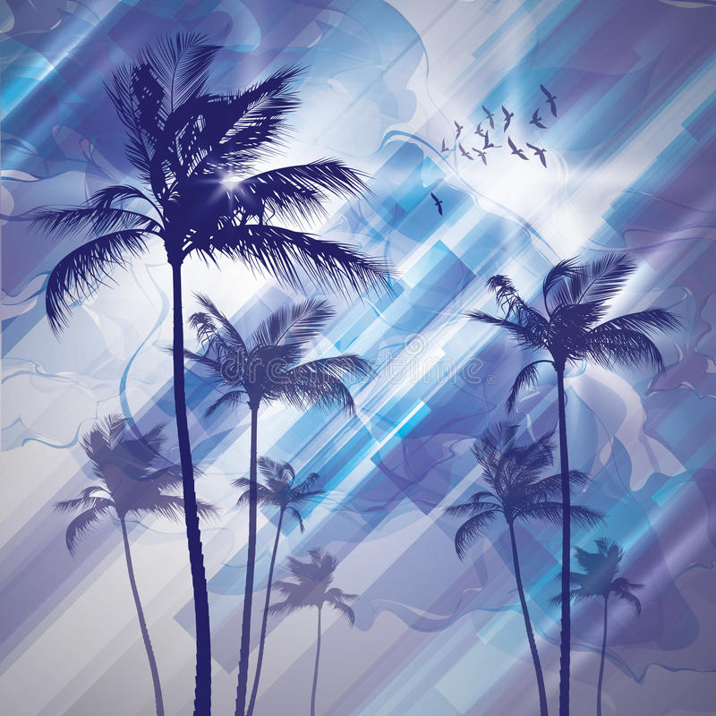 Download Palm tree at sunset stock photo. Image of evening, blue - 23556090