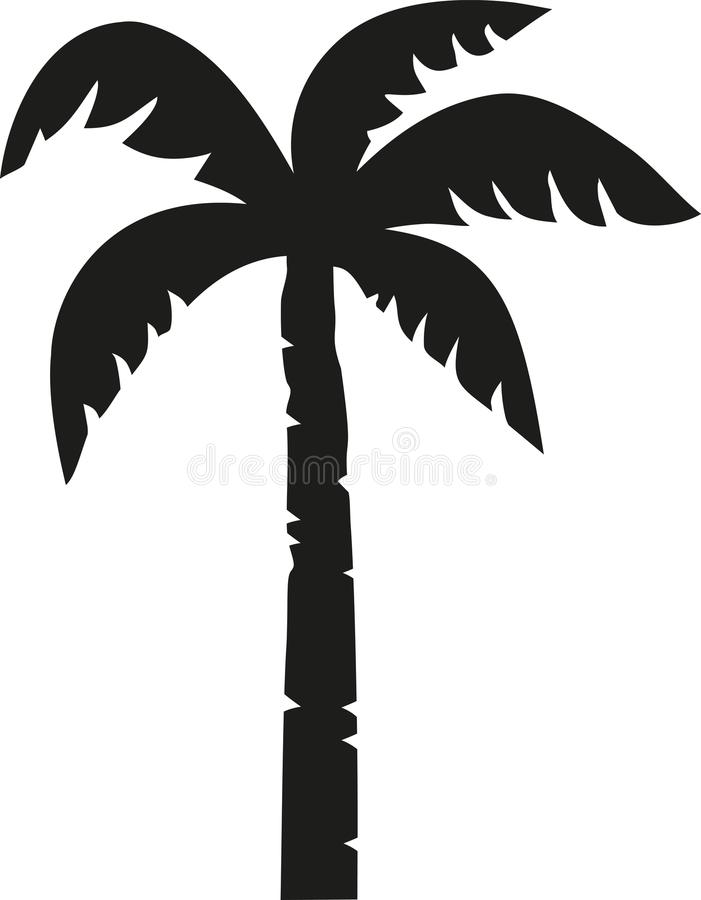 Palm tree vector. Beach vector stock illustration