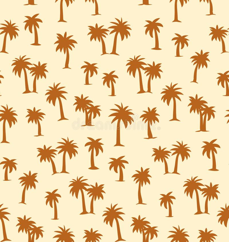 Palm tree. Vector drawing. Summertime african rainforest scenic view on white plantation fond. Freehand outline black ink hand drawn eco floral palmtree logo royalty free illustration