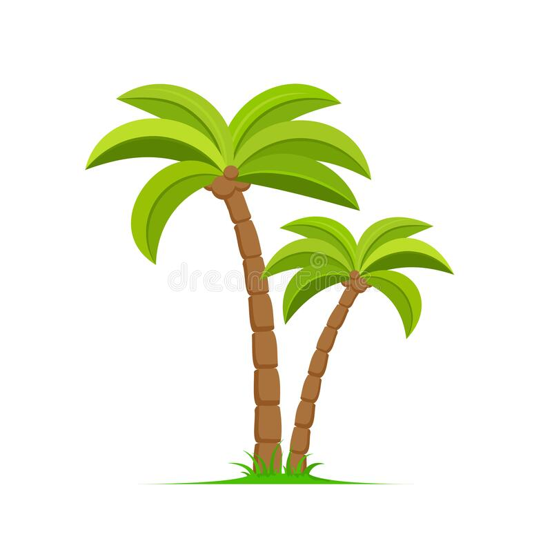 Free Palm Tree Vector Island Coconut Cartoon Icon. Palmtree Island Desert Isolated Tropical Icon Stock Photography - 191229512