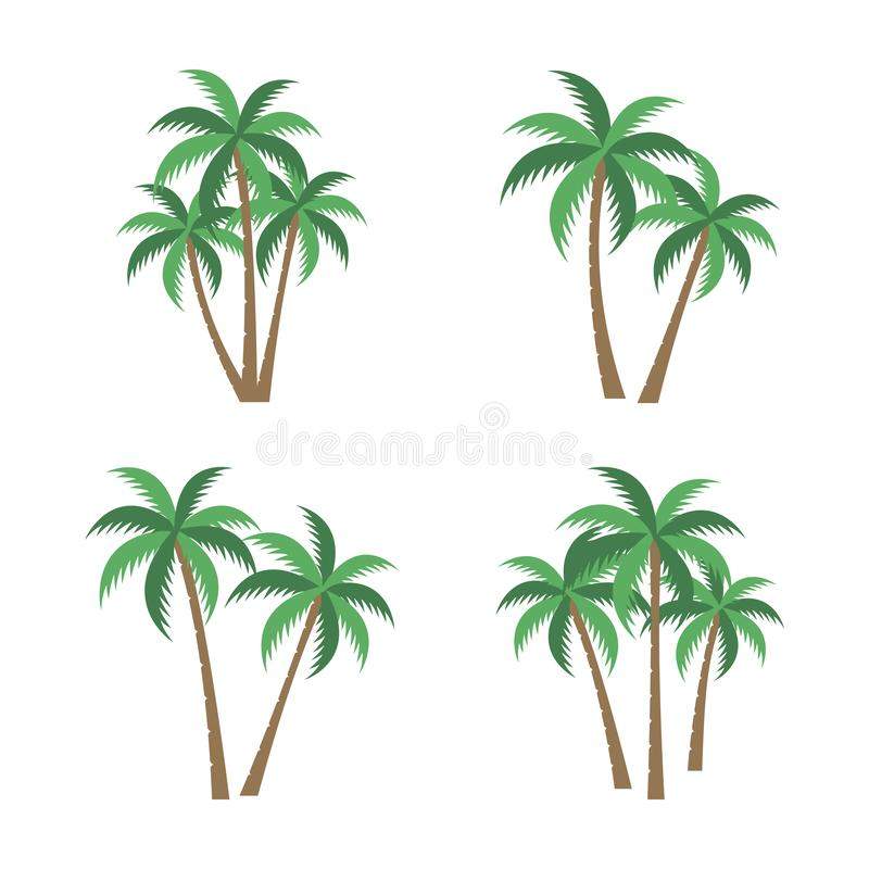 PALM TREE VECTOR SET. A palm tree vector set image vector illustration
