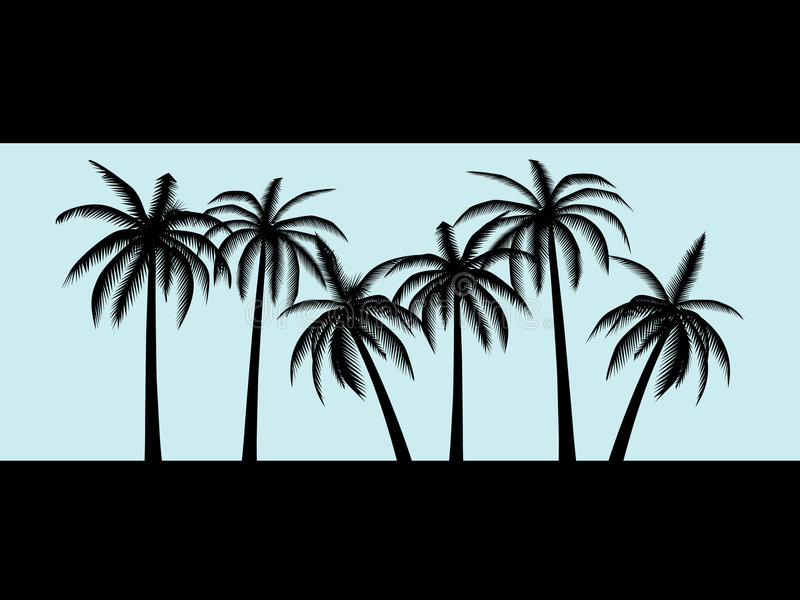 Download Palm trees stock illustration. Image of shadow, palm, blue - 9358251