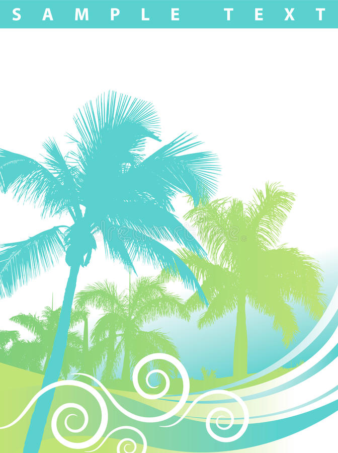 Palm Trees Background stock illustration