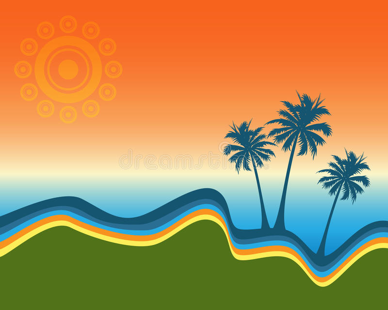 Palm trees design. Illustration of a summer design with palm trees.EPS file available royalty free illustration