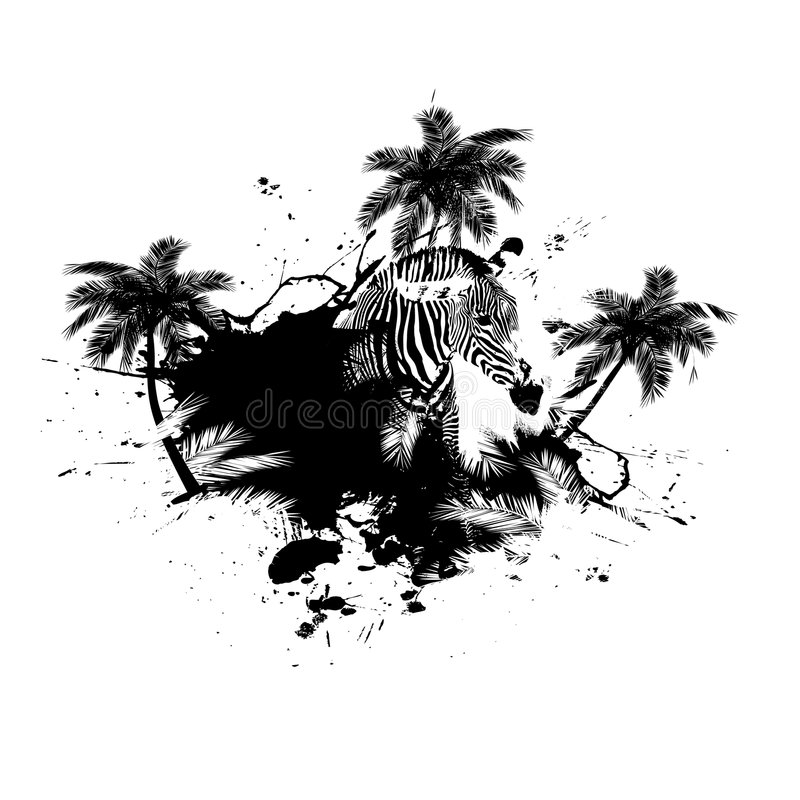 Palm Trees Grunge Vector royalty free illustration
