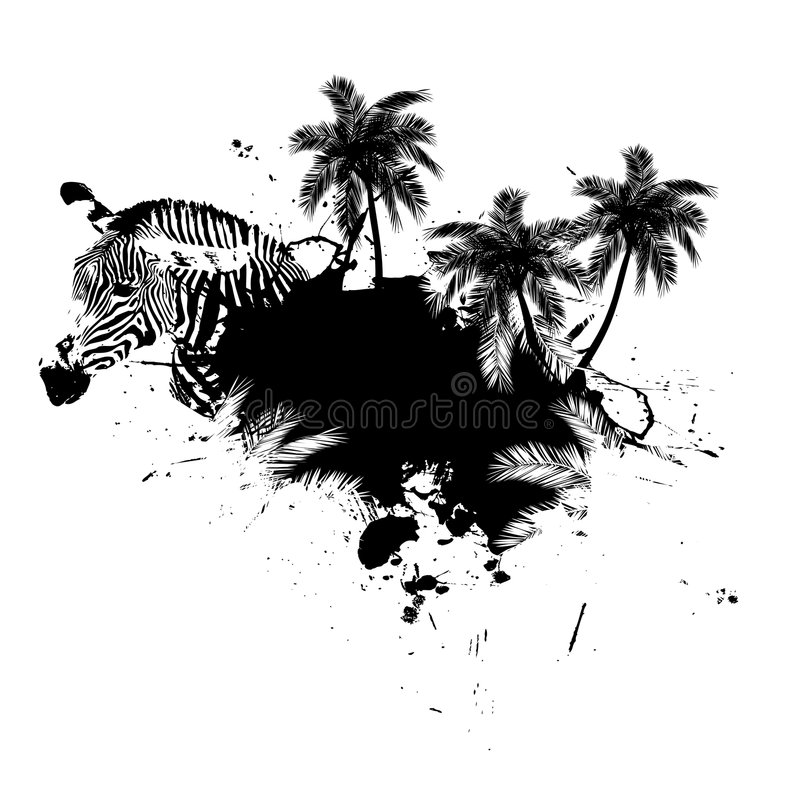 Palm Trees Grunge Vector vector illustration