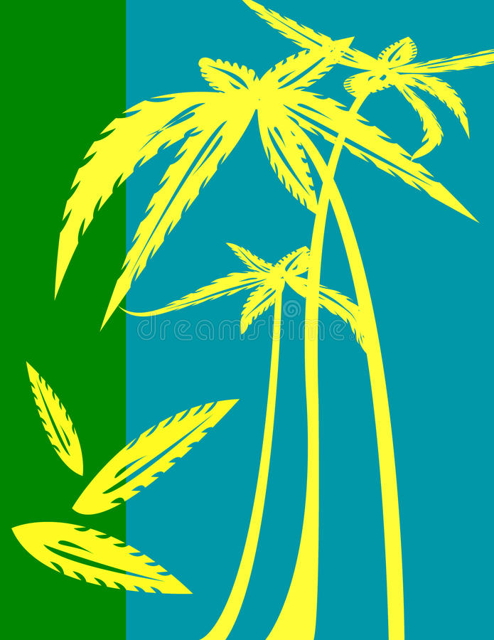 Download Palm trees illustration stock illustration. Illustration of natural - 15204375