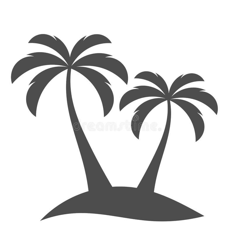 Palm trees on island royalty free illustration