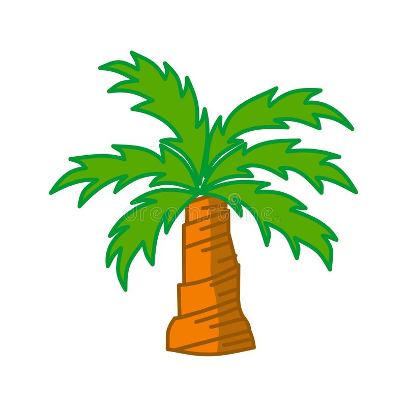Palm trees isolated white background Vector Design. Palm trees isolated white background Vector vector illustration