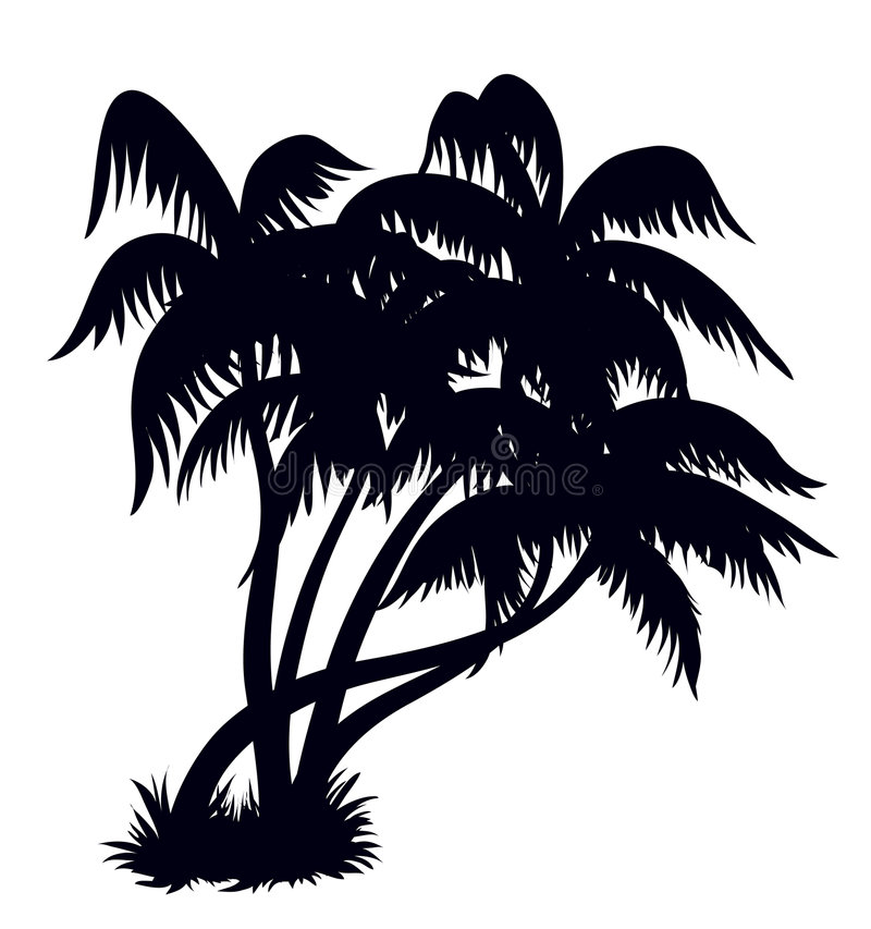 Free Palm Trees Silhouette 2 Royalty Free Stock Image - 5384316