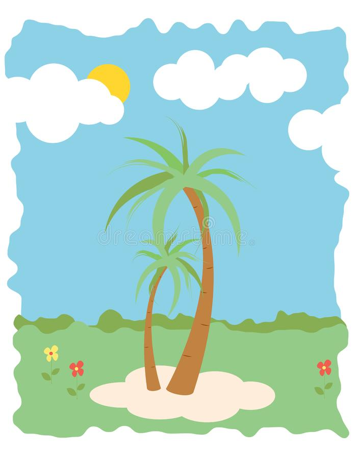 Palm trees summer background royalty free stock image