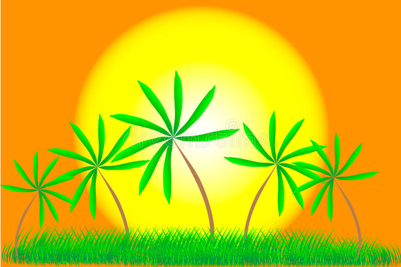 Download Palm Trees And Summer Sunset Stock Vector - Image: 20289739