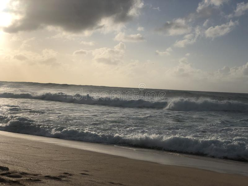 Tropical paradise Honolulu Hawaii ocean scenery royalty free stock photos