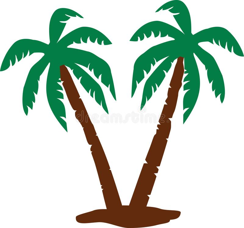 Palm trees vector royalty free illustration