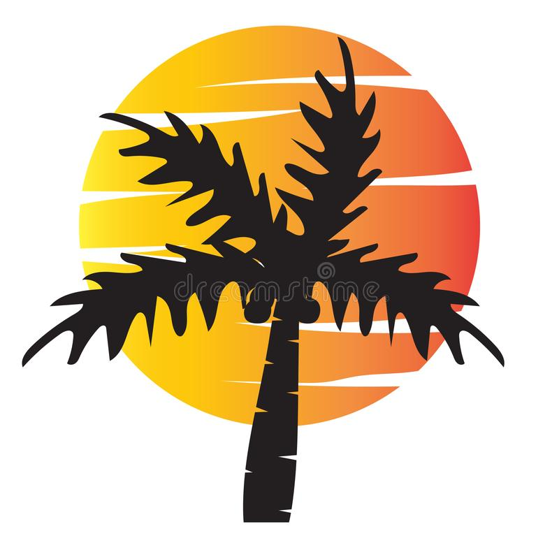 Summer tree palm logo icon vector template royalty free illustration