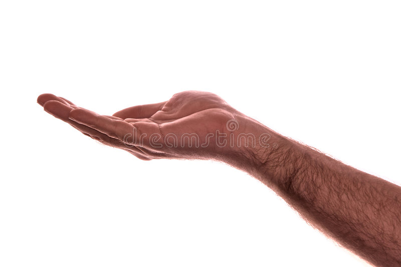 Download Palm up stock image. Image of wrinkles, thumb, isolated - 7519435
