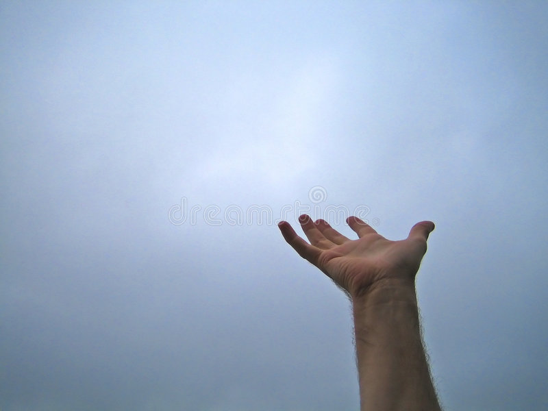 Palm Up Hand Sky 7239 b royalty free stock image