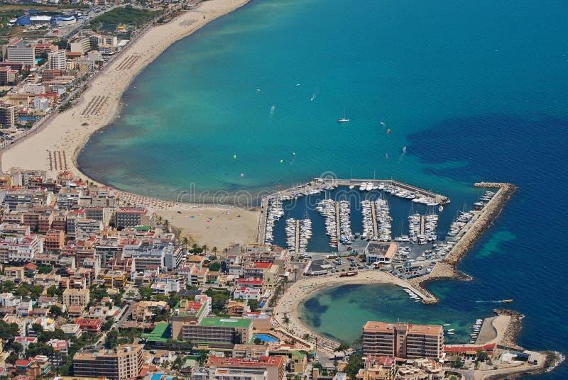 Palma de Majorca bay royalty free stock image