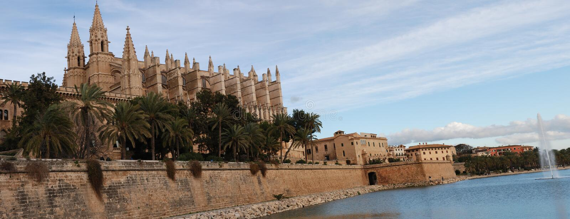 Palma de Majorca Cathedral stock photo