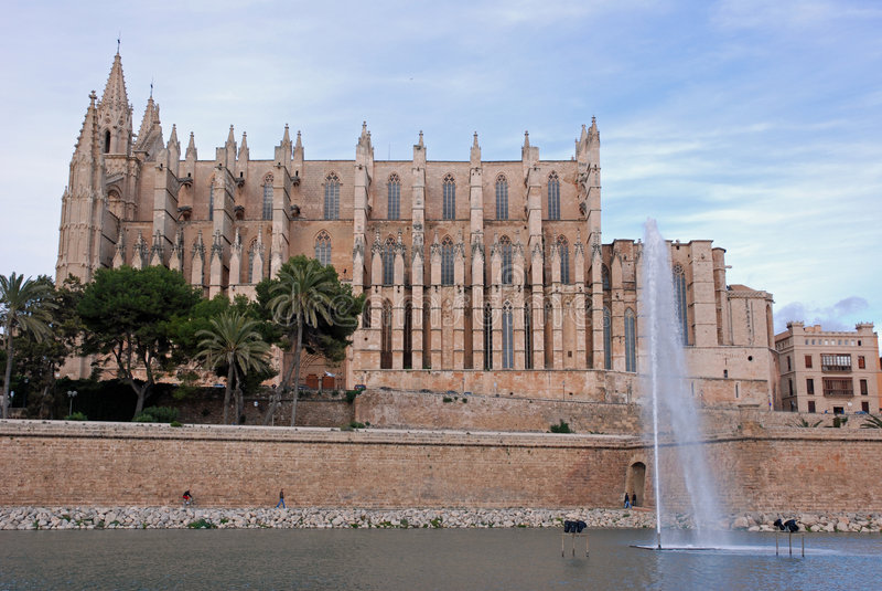 Palma de Majorca Cathedral stock image