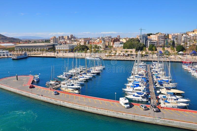 Palma de Mallorca-baai, Spanje royalty-vrije stock foto