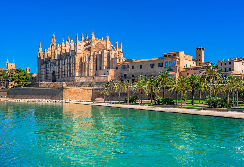 Palma de Mallorca Cathedral images libres de droits
