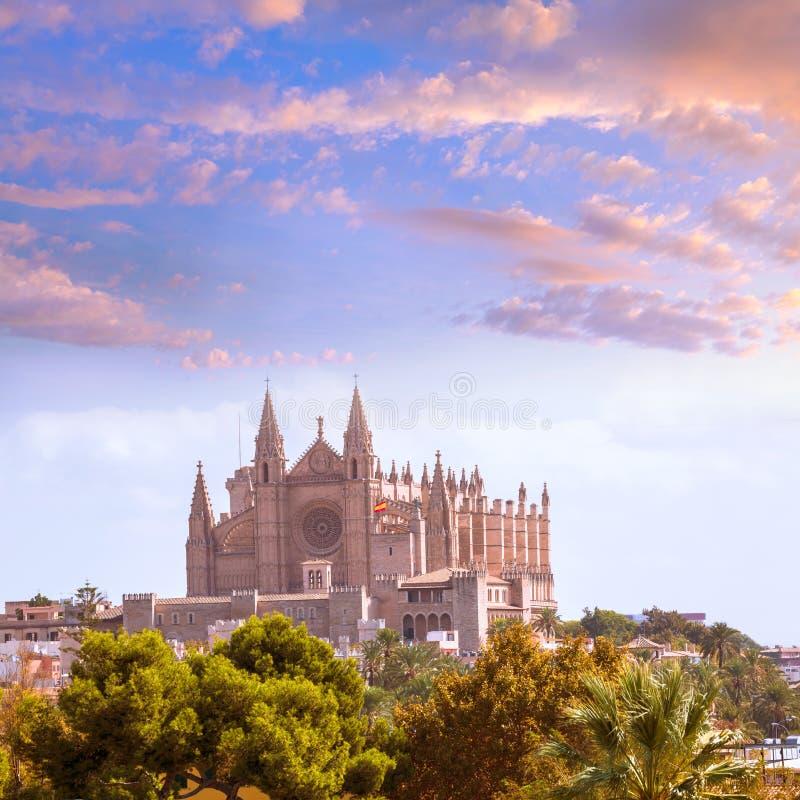 Palma de Mallorca Cathedral de la Seo Majorca photos libres de droits