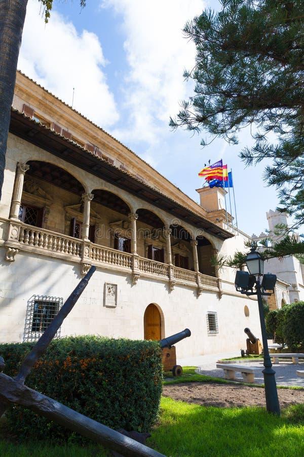 Palma de Mallorca Consulado de Mar cerca de Lonja imagenes de archivo