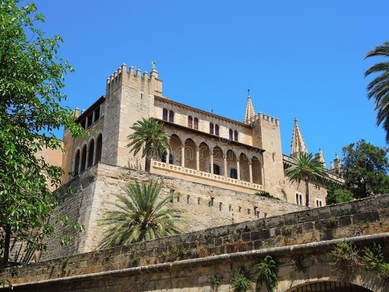 Palma de Mallorca, Espanha Royal Palace do La Almudaina imagem de stock royalty free