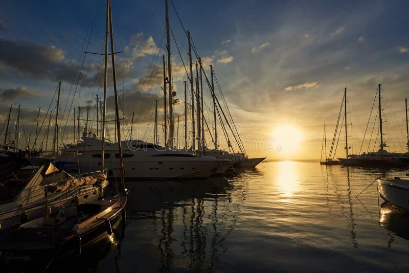 Palma de Mallorca Harbour fotografie stock libere da diritti