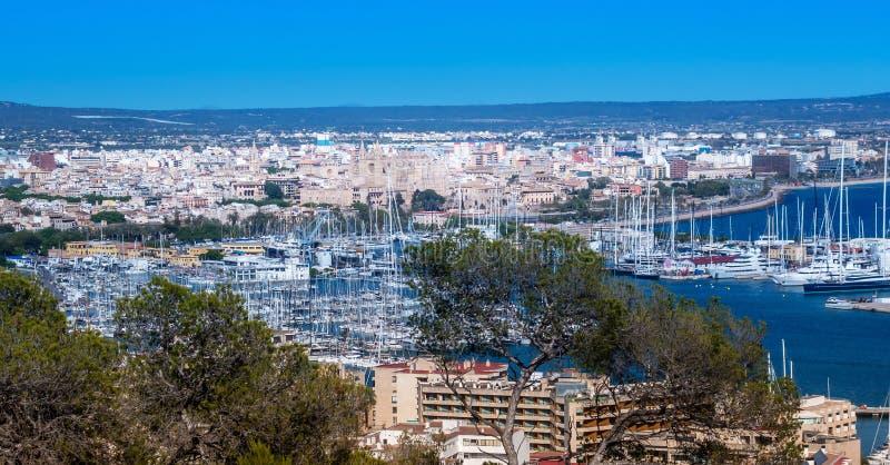 Palma de Mallorca-haven royalty-vrije stock foto