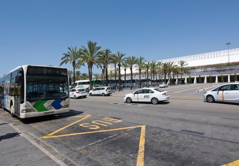 Palma de Mallorca-luchthaven in Juli royalty-vrije stock afbeelding