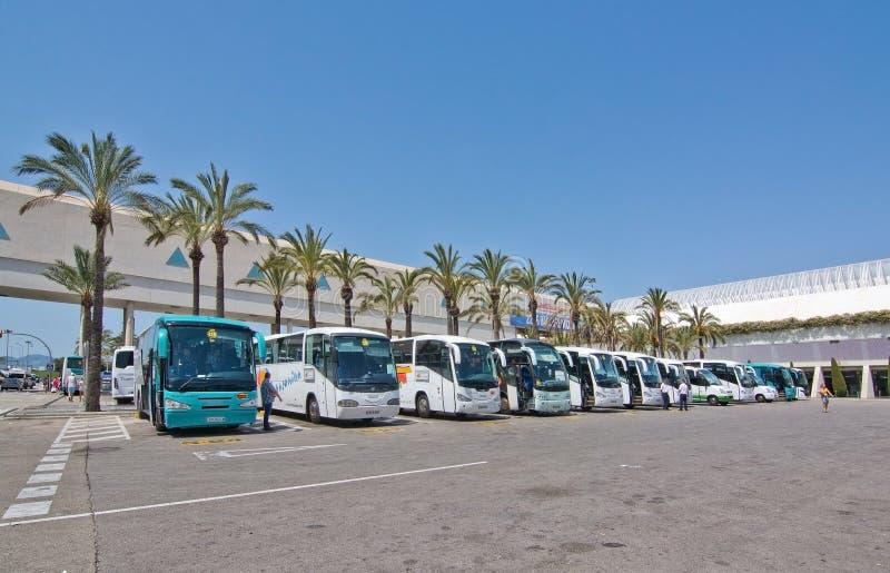 Palma de Mallorca-luchthaven in Juli stock fotografie