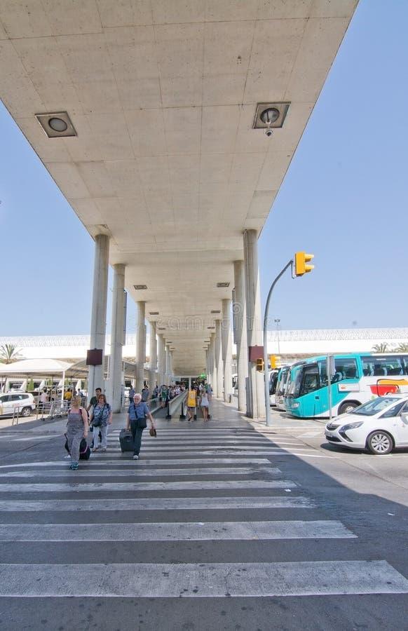 Palma de Mallorca-luchthaven in Juli stock afbeelding