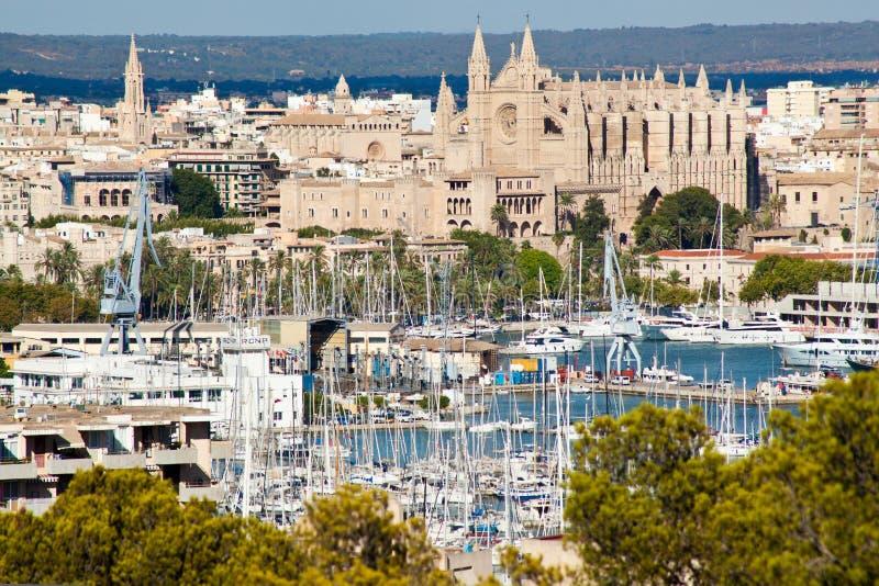 Palma de Mallorca port arkivbilder