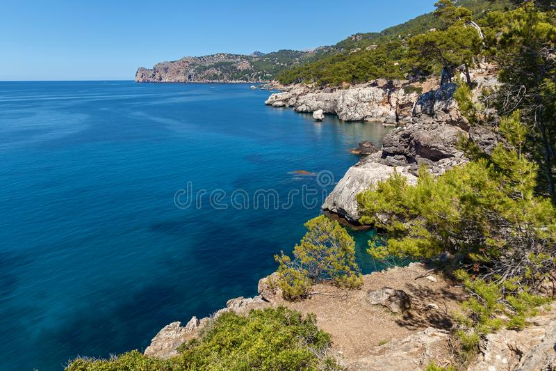 The sea on Palma de Mallorca stock photos