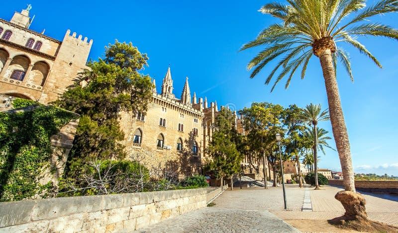 Palma de Mallorca Mallorca Spain på domkyrkalaen Seu royaltyfria foton