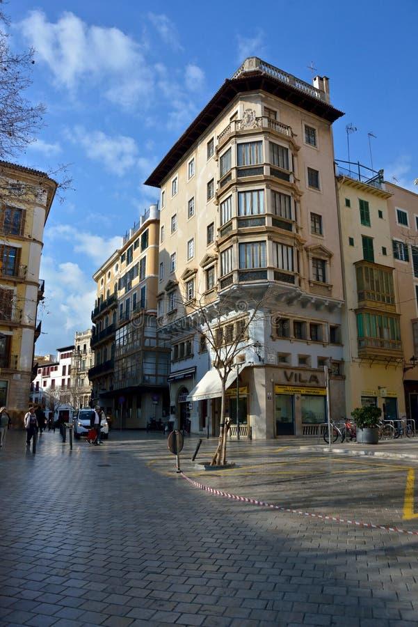Palma de Mallorca street view royalty free stock photo