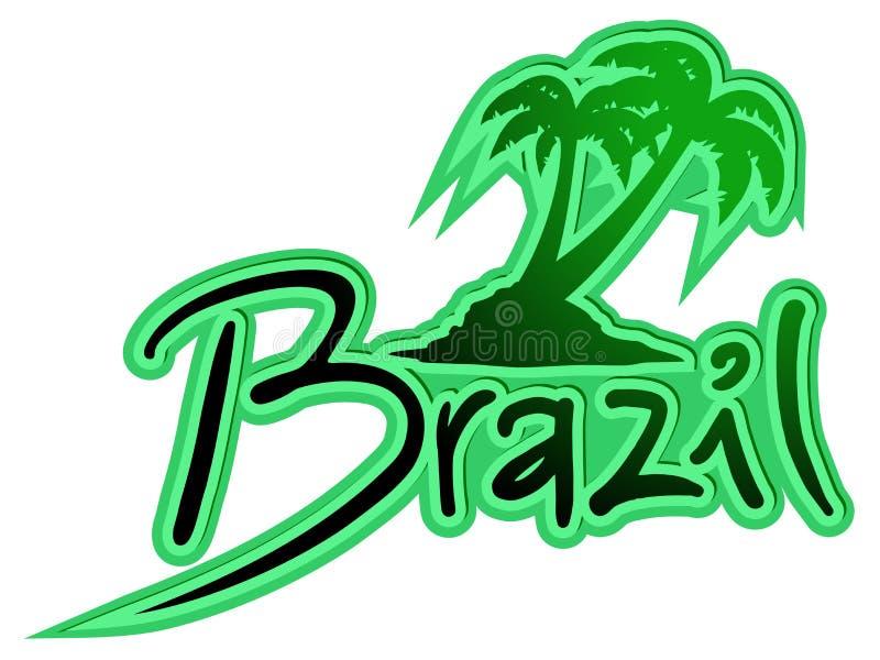 Palma del Brasil stock de ilustración