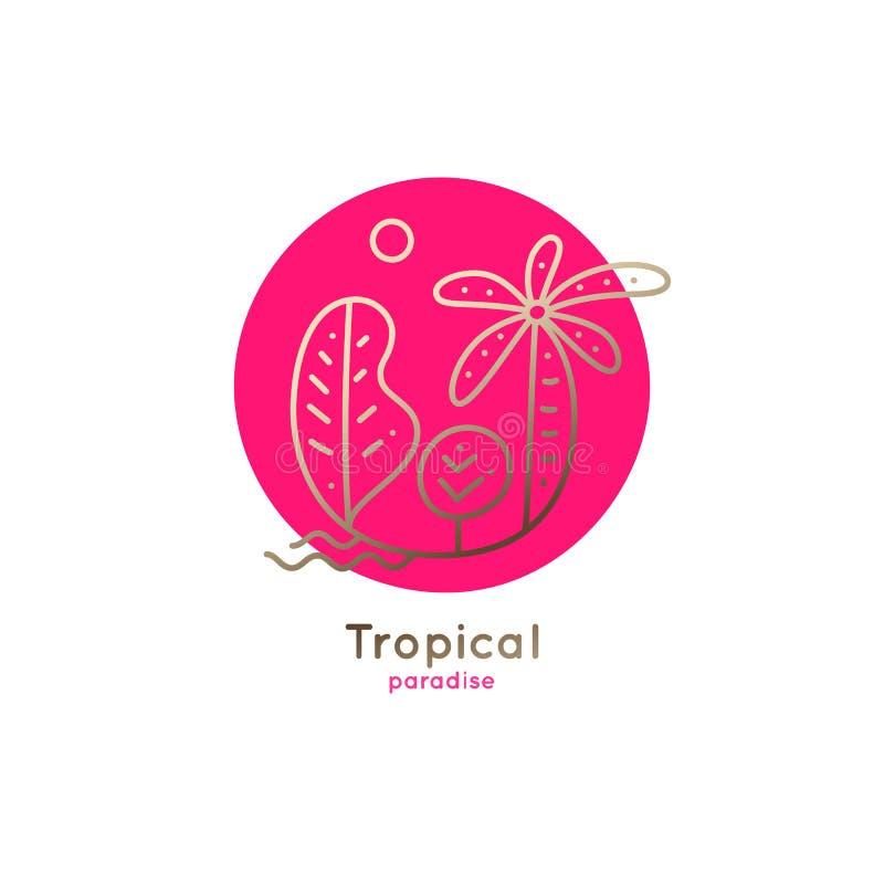 Palma del logotipo stock de ilustración